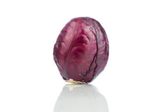 Red cabbage isolated on white background. Close up Stock Image