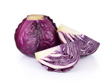 Red cabbage isolated on white background Royalty Free Stock Photos