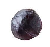 Red cabbage isolated on white background Stock Photography