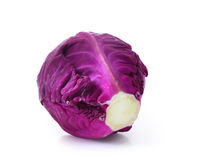 Red cabbage isolated on white Royalty Free Stock Image