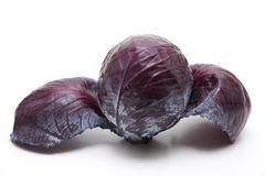 Red cabbage with loose leaves Royalty Free Stock Photo