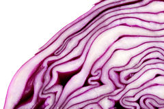 Red Cabbage macro Stock Photo