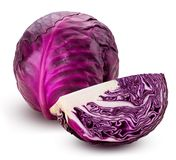 Red cabbage one slice Royalty Free Stock Photo