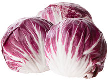 Red cabbage radicchio isolated on white. Red cabbage radicchio isolated on a white Royalty Free Stock Images