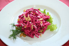 Red cabbage salad Stock Image