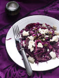 Red cabbage salad Stock Photos