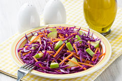Red cabbage salad Stock Photography