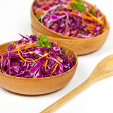 Red cabbage salad Royalty Free Stock Images