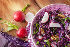 Red cabbage salad Royalty Free Stock Photo