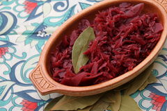 Red Cabbage. Some cooked red cabbage in a bowl Stock Photo