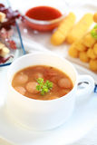 Red cabbage soup Royalty Free Stock Photography