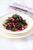 Red cabbage and spinach salad Royalty Free Stock Photo
