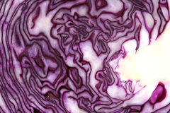 Red cabbage texture and pattern Stock Photo