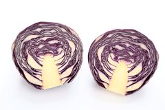 Red cabbage. Royalty Free Stock Photo