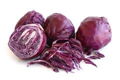 Red cabbage. On white background Royalty Free Stock Photo