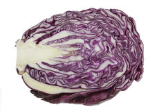 Red cabbage on a white background. Red cabbage isolated on white background Stock Photo