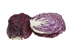 Red cabbage on a white background. Red cabbage isolated on white background Stock Images