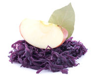 Red cabbage wit apple Stock Images