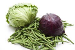 Red Cabbage With Beans Royalty Free Stock Photography