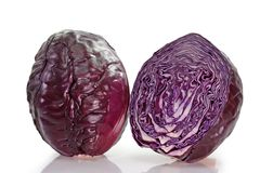 Red Cabbages. Two red cabbages on light background Royalty Free Stock Photo