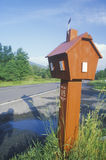 A red cabin mailbox Stock Photo