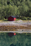Red cabin  of Meloey Royalty Free Stock Photography