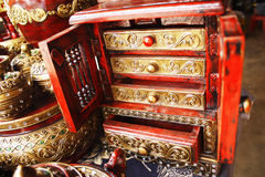 Red Cabinet Royalty Free Stock Image