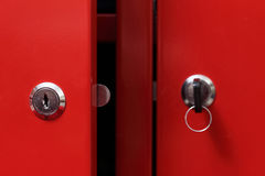 Red cabinet door Royalty Free Stock Photo