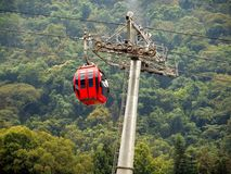 Red Cable Car Royalty Free Stock Images