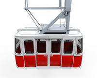 Red Cable Car Stock Photo