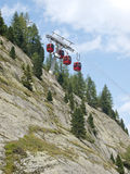 Red cable car lift Stock Photography