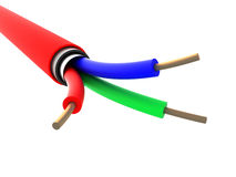 Red cable Stock Photos