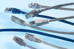 Red-cables imagen de archivo libre de regalías