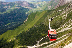 Red cableway Royalty Free Stock Image