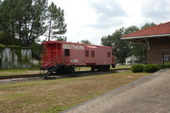 Red caboose Royalty Free Stock Photos