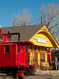 Red Caboose Stock Images