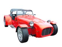 Red cabriolet. Red sports expensive classic cabriolet Stock Photography