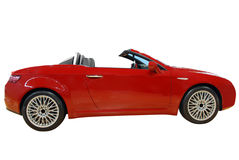 Red cabriolet car Stock Photo