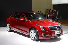 Red cadillac ats car Royalty Free Stock Photo