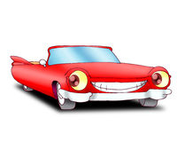 Red cadillac car. Isolated on a white background Royalty Free Stock Images