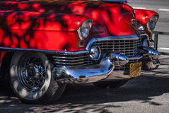 Red Cadillac, closeup view... Stock Images