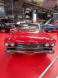 A red cadillac in museum stock image