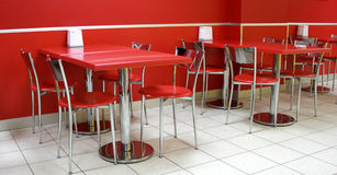 Red cafe Royalty Free Stock Images