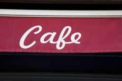 Red Cafe Sign Stock Photos