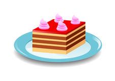 Red cake Stock Photography