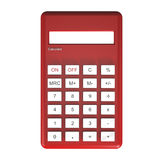 Red calculator. Isolated on white background Stock Images