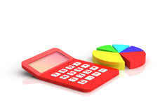 Red calculator Stock Image