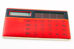 Red calculator Stock Photo