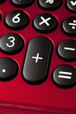 Red calculator, close up Stock Photography