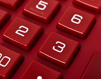 Red calculator Royalty Free Stock Photo